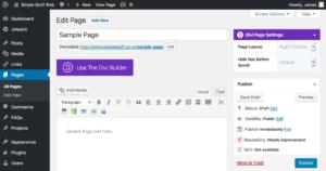 WordPress create page